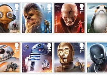 Royal Mail issues a collection of Star Wars stamps