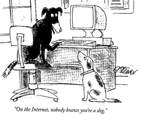 On the Internet, nobody knows you're a dog... | Media Marketing